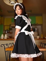 Adorable busty asian maid is waiting to service your pleasure