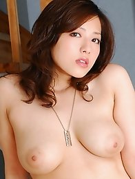 Big tits japan idols Meisa Hanai in white lingerie