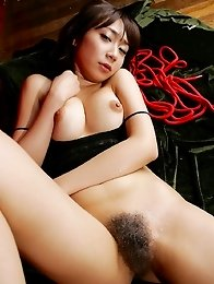 Perfect japanese Ryo Akanishi with big tita ana hairy pussy