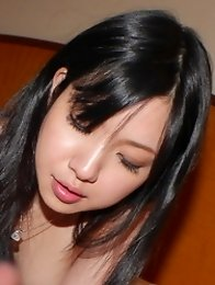 Horny and cute Japanese av idol Airi Minami gives an amazing blowjob in the hotel
